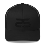 Sthlm Retro Trucker Cap black on black - Sthlm Syndrom AB