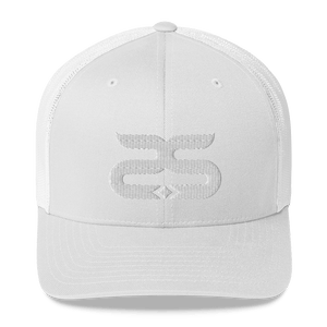 Sthlm Retro Trucker Cap White on white - Sthlm Syndrom AB