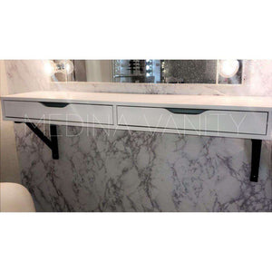 2 Drawer Vanity Wall Shelf - Medina Vanity