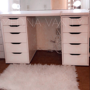 Vanity Table with two 5 drawer dressers