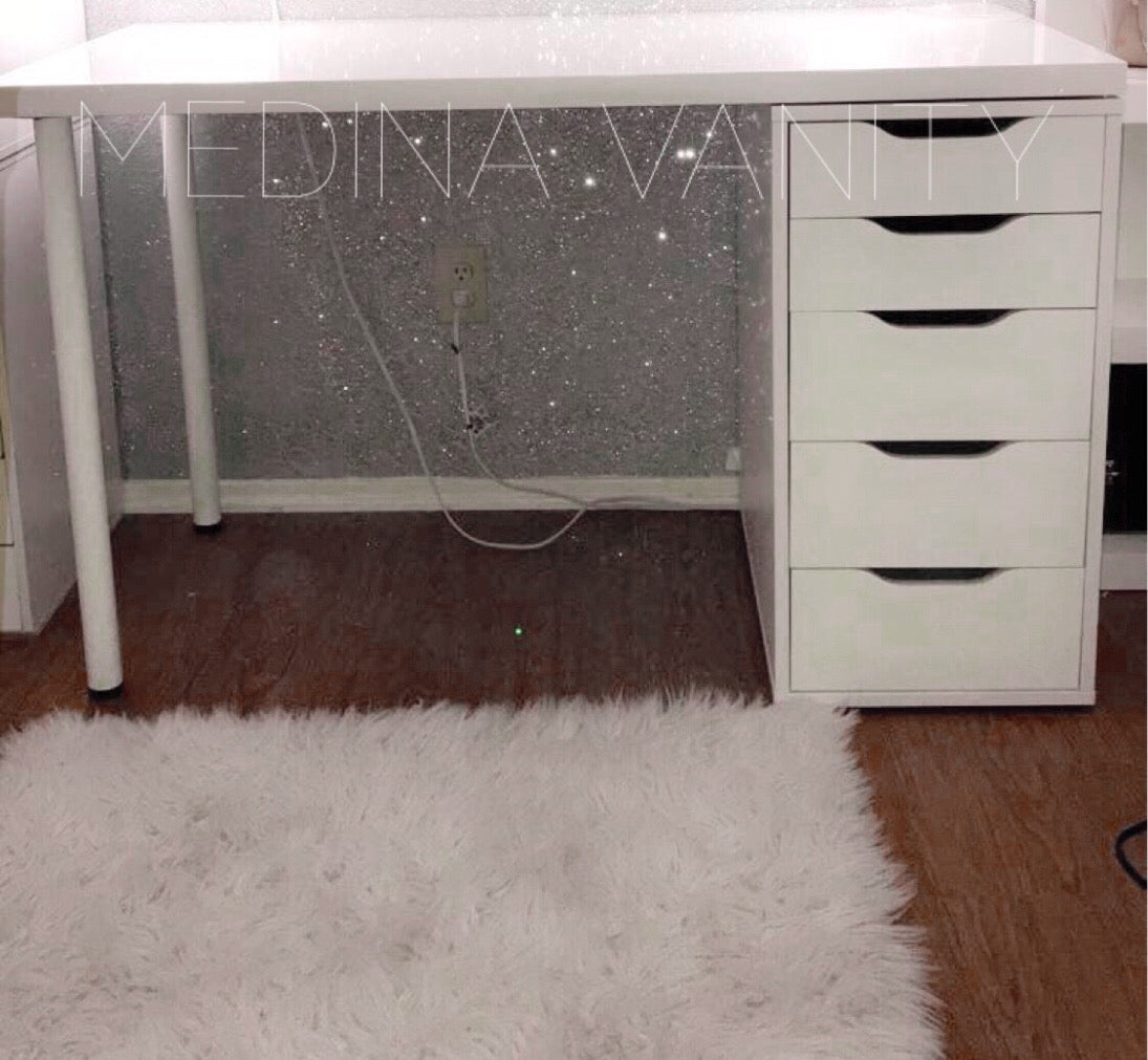 Vanity Table with one 5 drawer dresser