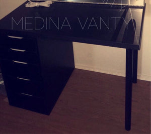 Vanity Table with one 5 drawer dresser - Medina Vanity