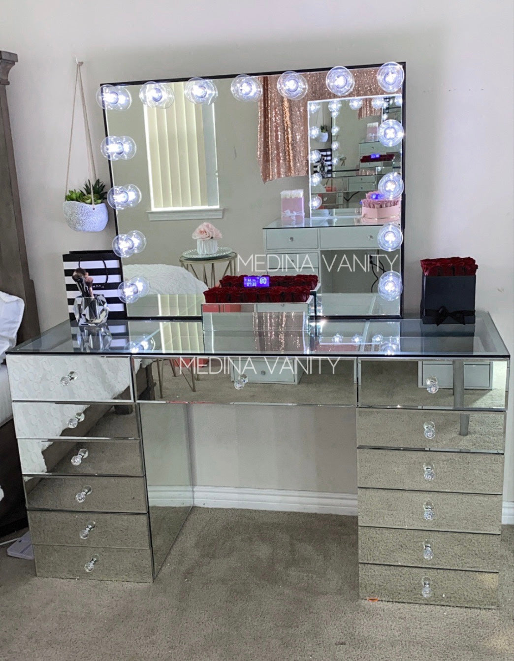 Reflect® Vanity Mirror + Vanity Table