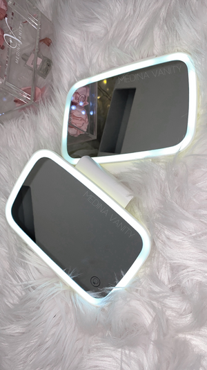 Travel LED vanity mirror