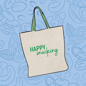 "Tosi ""Happy Snacking"" Canvas Tote"