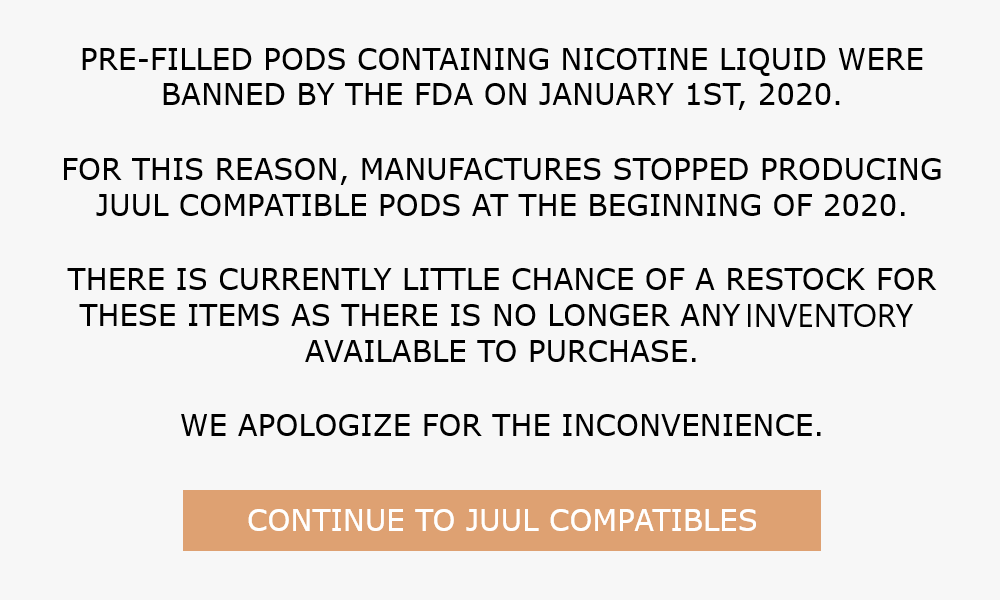 Juul Compatibles Discontinued Banner