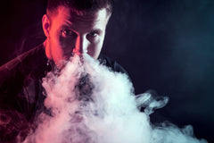 Myle Pods, Man blowing vapor