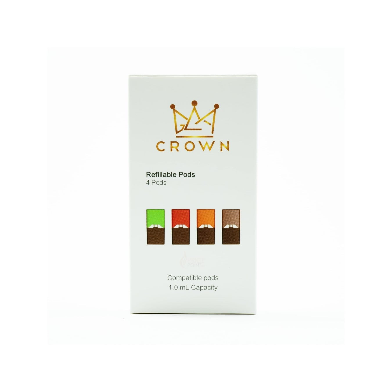 CROWN Refilalble Pods | Refillable JUULpods | JUUL Compatible | JUUL Compatible Pods | Price Point NY | Salt Nic Pod