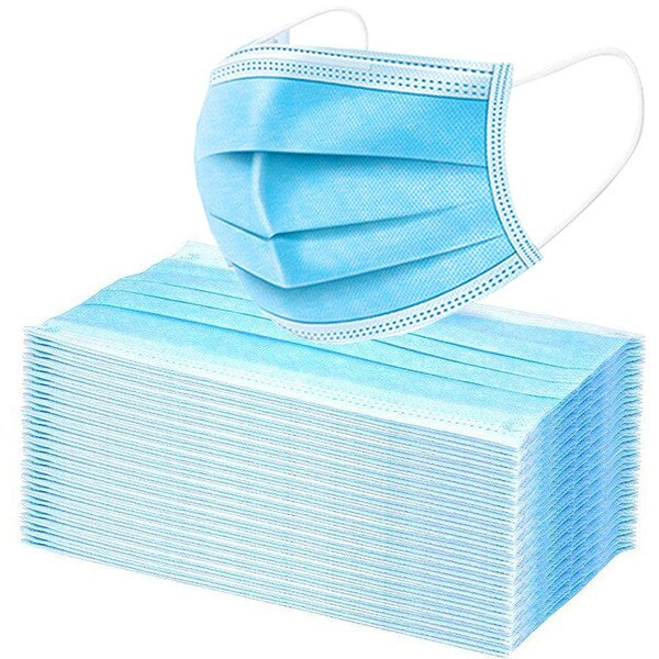 3 Ply Disposable Mask w/ Earloops - 50 Pack