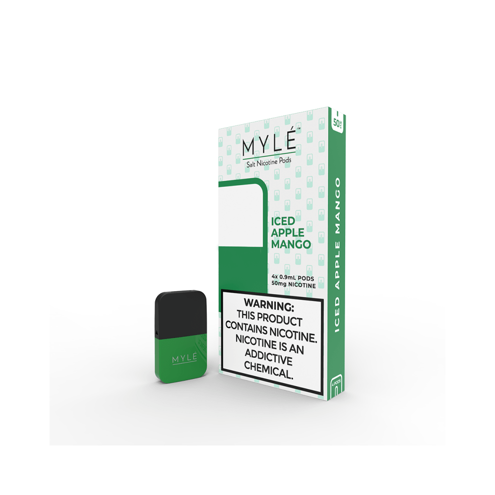 MYLE Iced Apple Mango Pods | 4 Pack | Salt Nic Pods | Price Point NY