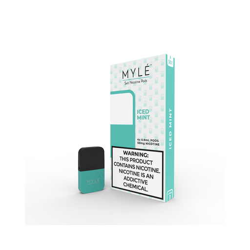 MYLE Iced Mint Pods | 4 Pack | Salt Nic Pods | Price Point NY