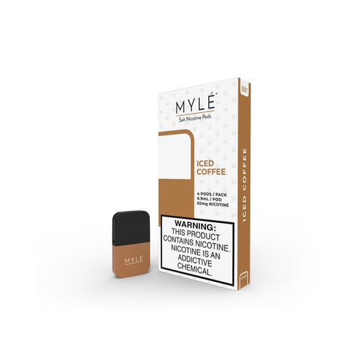 MYLÉ Iced Coffee Pods 4 Pack | 5% Nicotine | Price Point NY