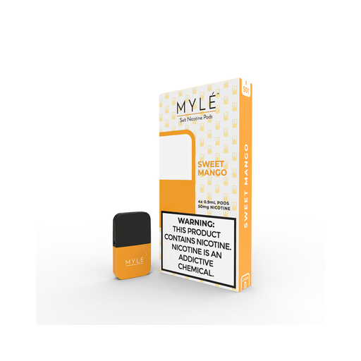 MYLE Sweet Mango Pods | 4 Pack | Salt Nic Pods | Price Point NY