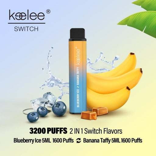 keelee Switch 2-in-1 Disposable Device - Blueberry Ice & Banana Taffy | Price Point NY