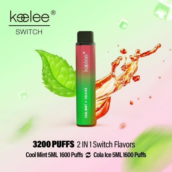 keelee Switch 2-in-1 Disposable Device - Cool Mint & Cola Ice | Price Point NY