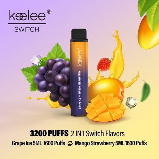 keelee Switch 2-in-1 Disposable Device - Grape Ice & Mango Strawberry | Price Point NY