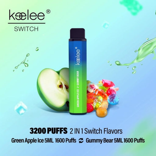 keelee Switch 2-in-1 Disposable Device - Green Apple Ice & Gummy Bear | Price Point NY