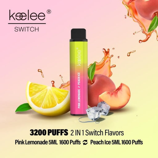 keelee Switch 2-in-1 Disposable Device - Pink Lemonade & Peach Ice | Price Point NY