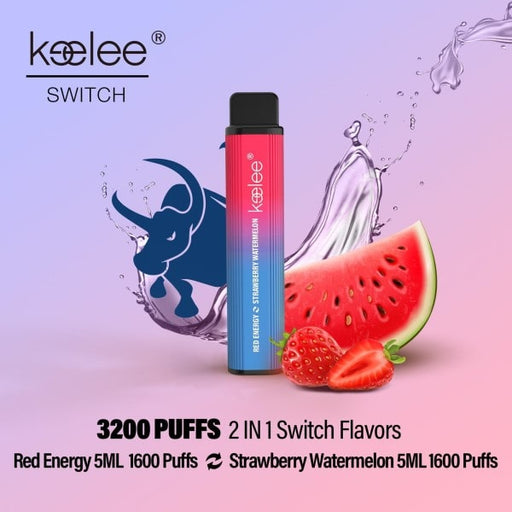keelee Switch 2-in-1 Disposable Device - Red Energy & Strawberry Watermelon | Price Point NY