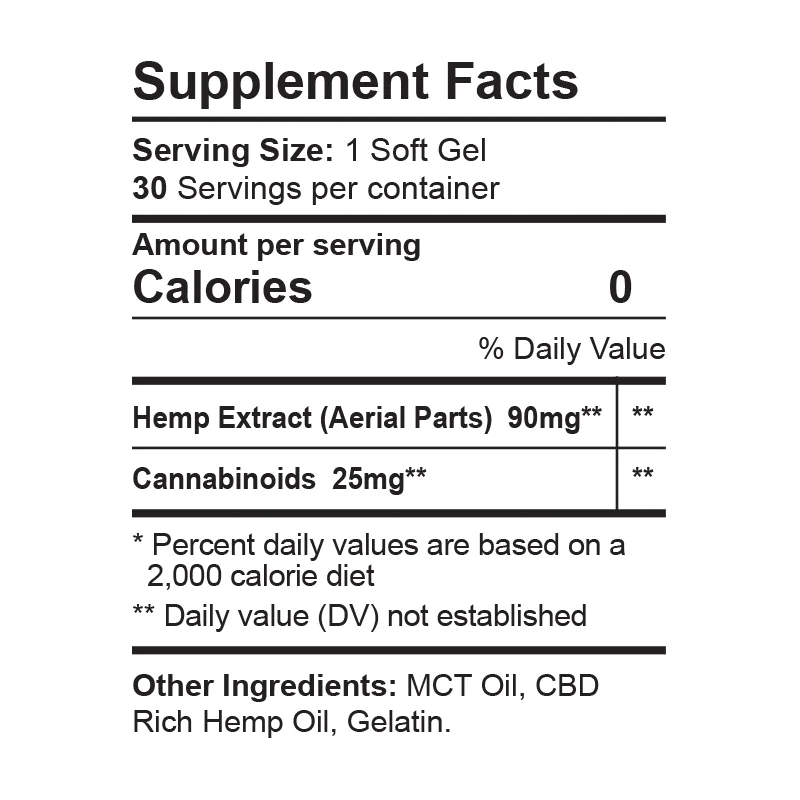 CBDfx Soft Gel Capsules 750mg Supplement Facts | Price Point NY