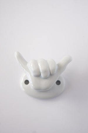 Porcelain Shaka Hooks by Jason Dow
