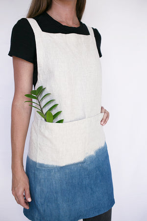 Linen Apron by Hawaiian Blue