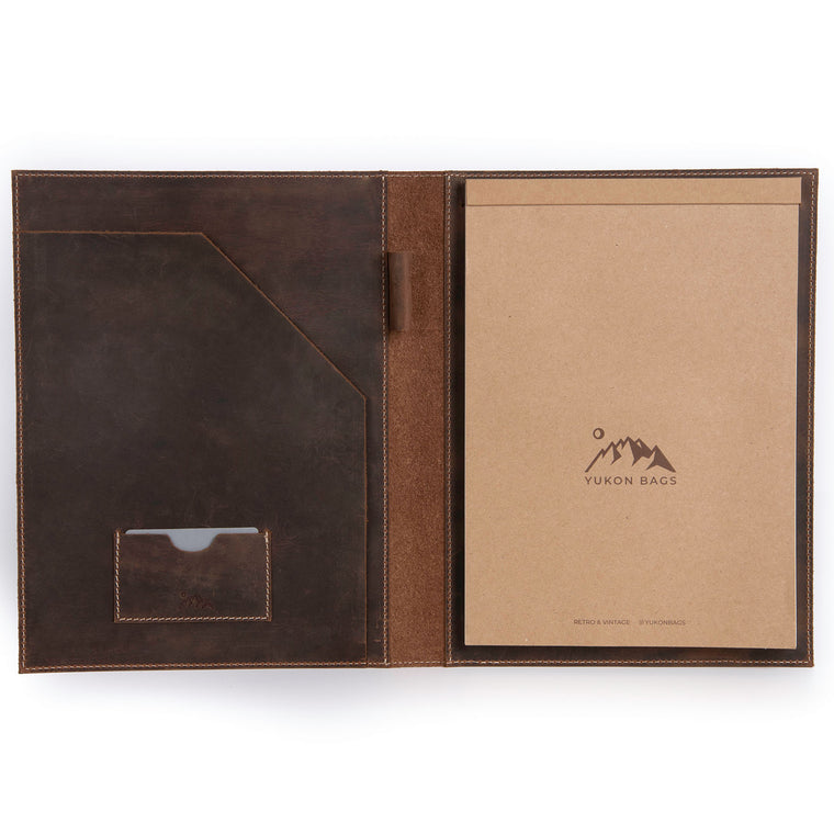 Arkell Leather Business Padfolio - Tan