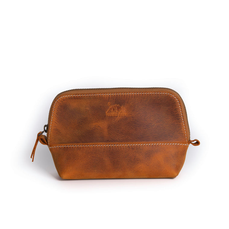 Elsa Mini Toiletry Bag- Camel