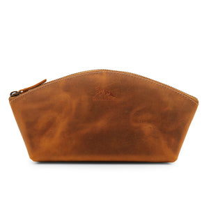 Keele Leather Toiletry Bag - Makeup Bag