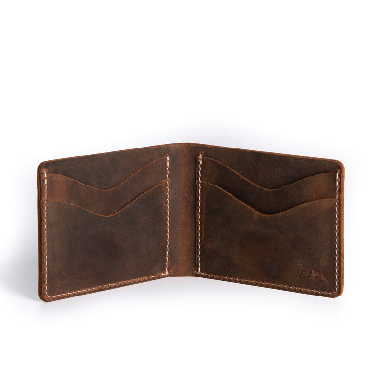 Moose Leather Slim Wallet - Tan