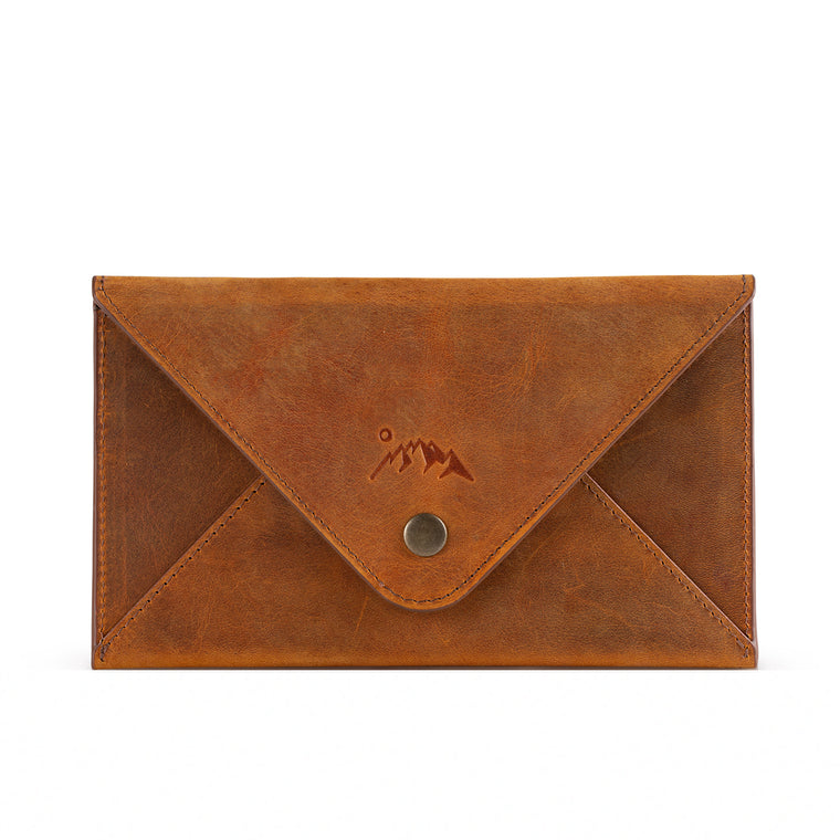 Salmon Leather Envelope Wallet