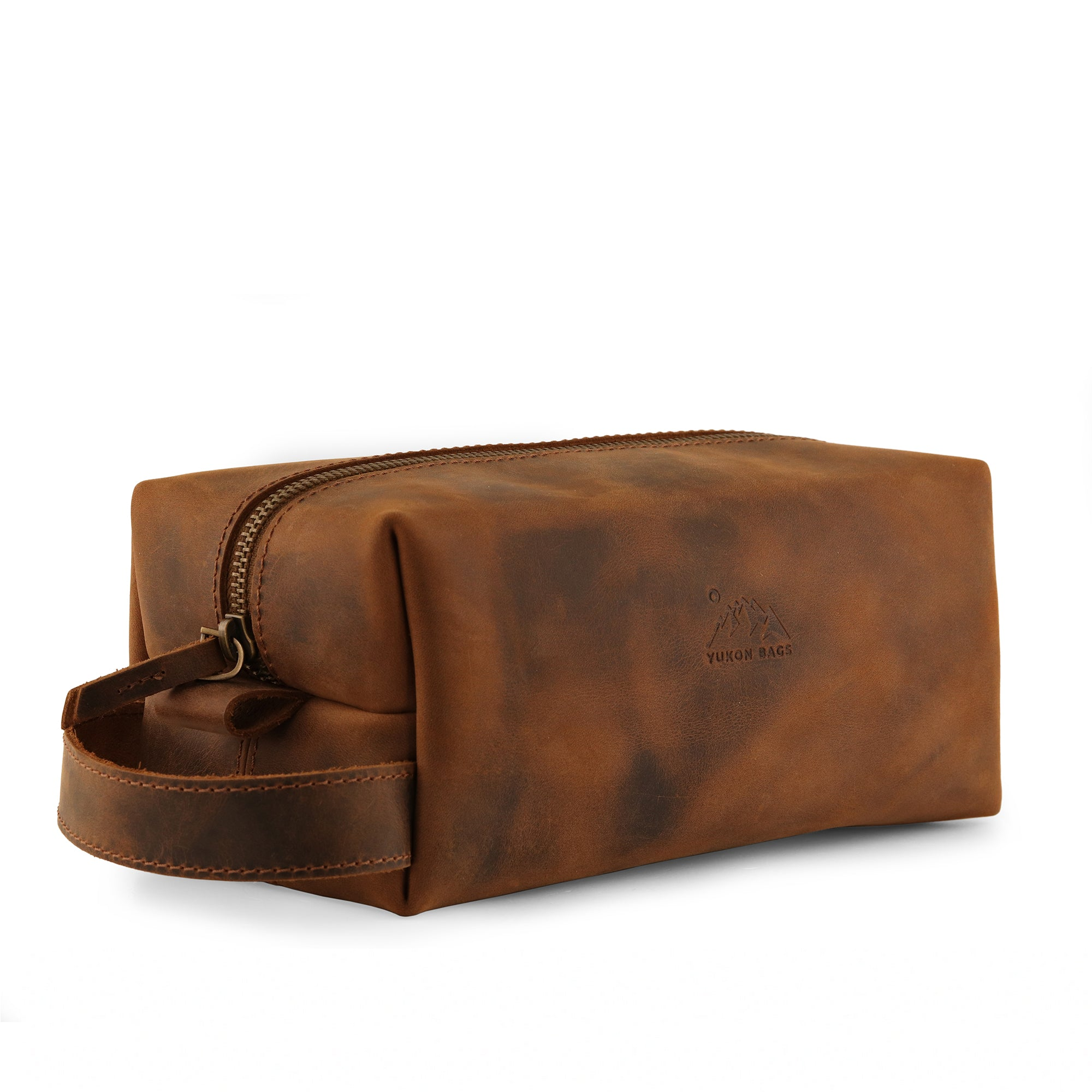 Steele Leather Toiletry Bag - Dopp Kit - Shave Kit
