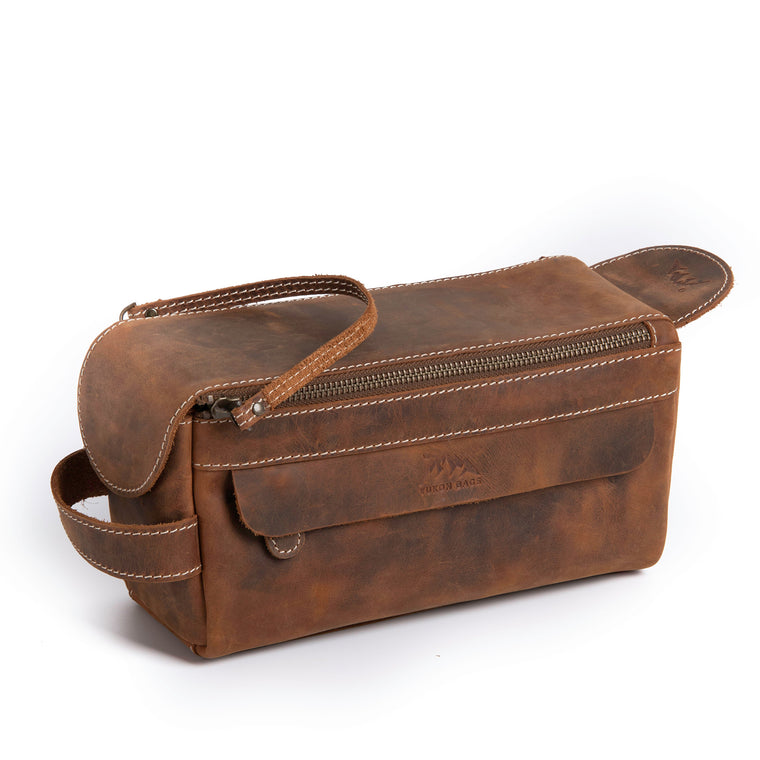 Walsh Travel Leather Toiletry Bag