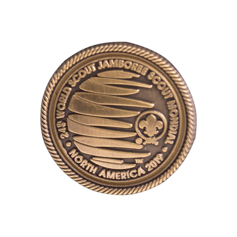 WJ19 Bronze Plated Lapel Pin