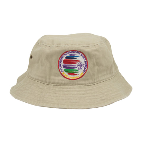 WJ19 Hat Bucket with Embroidered Color Crest