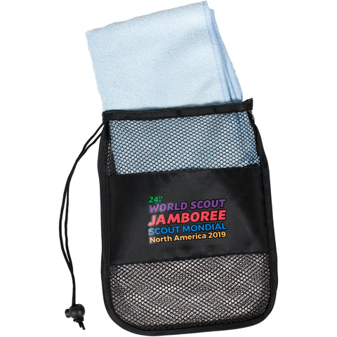 WJ19 Sports Towel with Mesh Bag