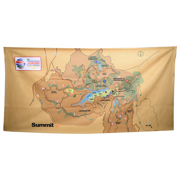 WJ19 Summit Map Beach Towel  30