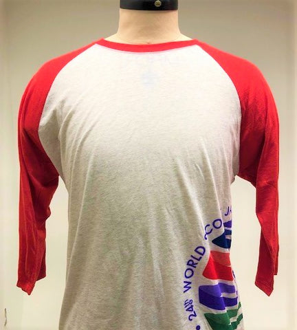 WJ19 3/4 Sleeve Raglan Baseball Shirt with Wrap Logo