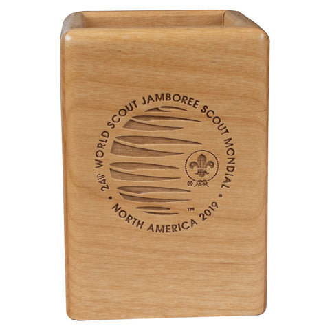 WJ19 Wood Laser Engraved Pencil Box