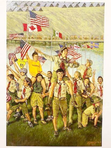 WJ19 Poster of Commemorative 24th World Scout Jamboree Painting