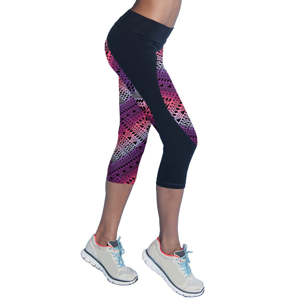 A4Y Quick Dry Neon Printed Leggings