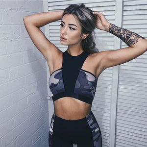 ZAFUL Camouflage Sports Bra and Leggings
