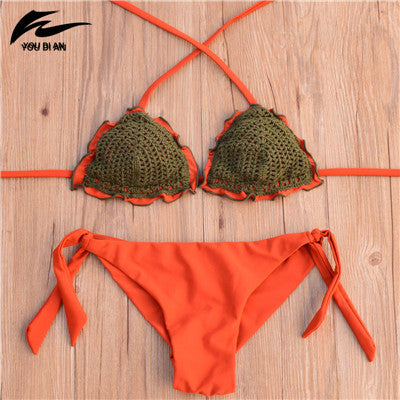 Brazilian Crochet Low-Waist Bikini