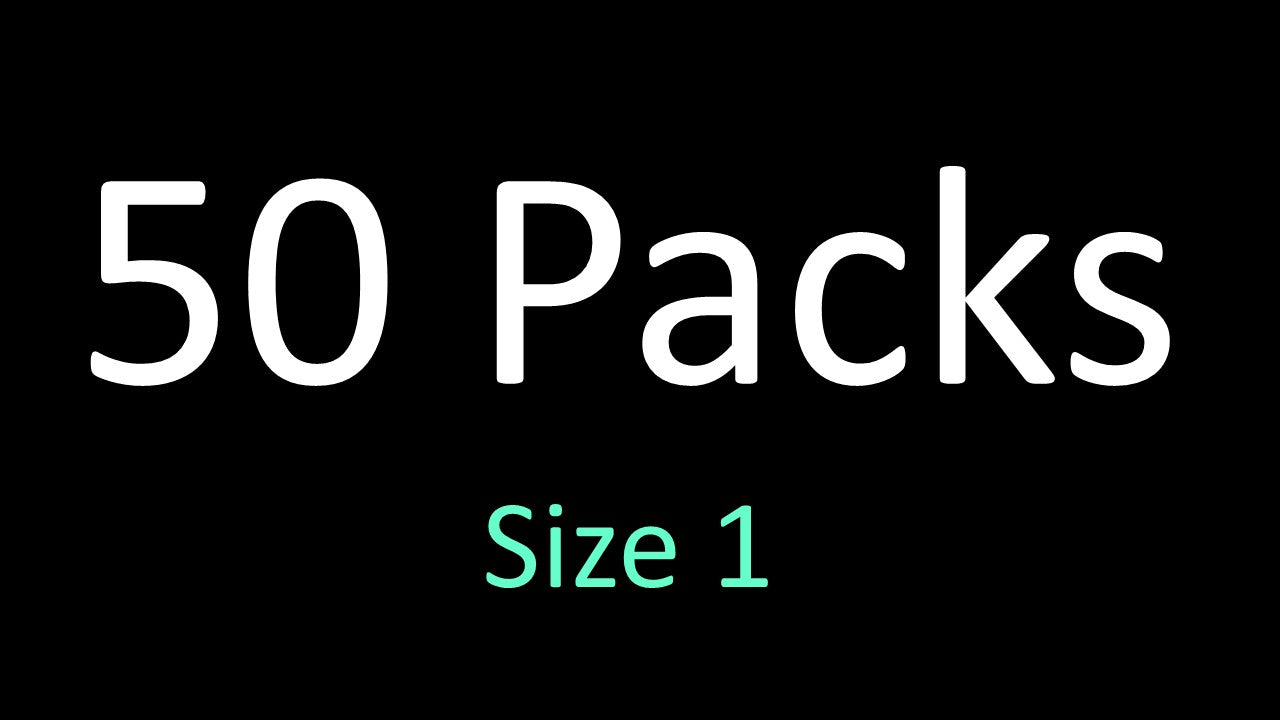 Wholesale - 50 Pack - Size 1 Dwypeze