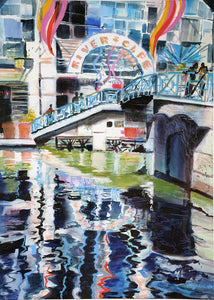 """Riverwalk"" Art Giclee by Carole Myers AWS NWS"