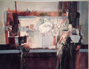 """From the Window:  Cuernavaca"" Original Mixed Media painting on Canvas by Carole Myers, AWS NWS"