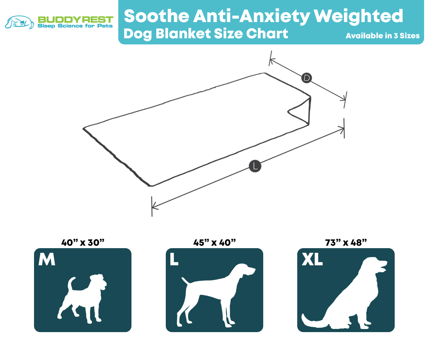 Soothe Weighted Dog Blanket