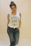 Good Vibes Grey Graphic T-shirt