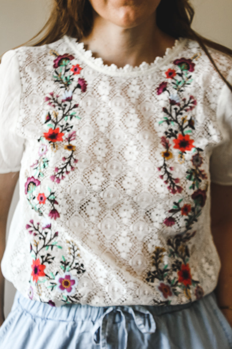 Flower Blouse - Emma and Evey