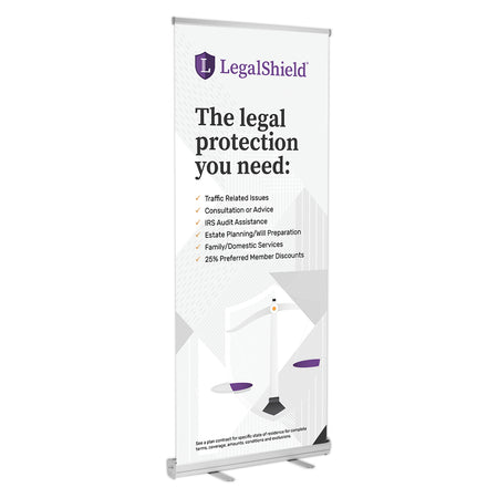 "LegalShield Retractable Banner Stands (33""x77"")"